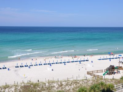 Panoramic view of gulf from our balcony..