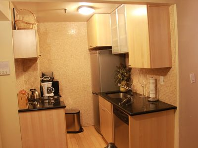 Granite Kitchen with stainless steel appliances Suite 1G