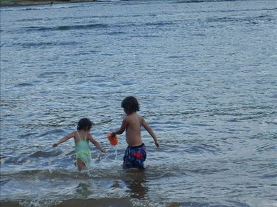 Our property has one of the best lakefronts for younger children.