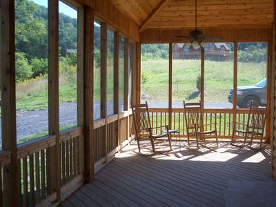 Front Royal house rental - Screened Porch