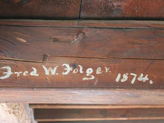 Nantucket Town house photo - Historical Signature on the 3rd Floor Oak Beams