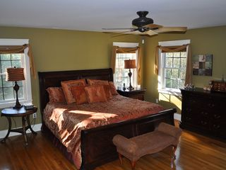 Kennebunkport house photo - Master bedroom with king size bed and walk-in closet