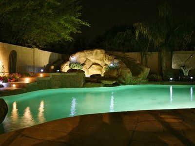 Incredible backyard with Private Pool and In-ground Spa with Rock Waterslide
