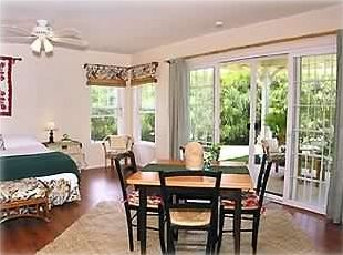 Charming & spacious, the studio is tastefully appointed Hawaiian-style.