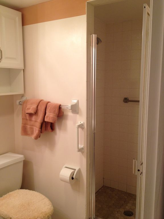 Second bath with walk-in shower.