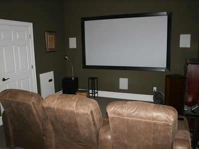 Home Theater with 7 recliners