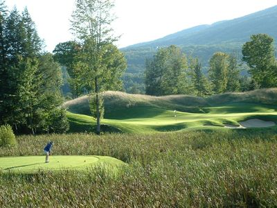 Ludlow house rental - Okemo Golf Course 17th Hole (thats me!)