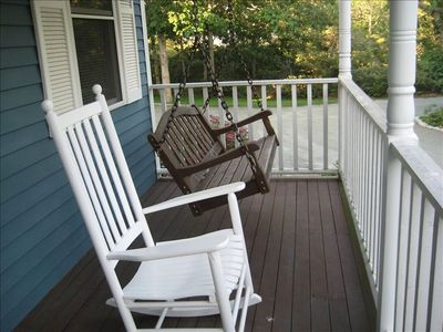 Last, but not least: enjoy our front-porch swing!!
