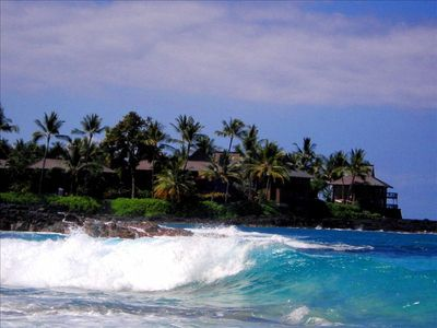 Kailua Kona house rental - Kona OneNalo from Magic Sands Beach.