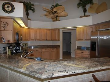 Gourmet kitchen with new stainless appliances