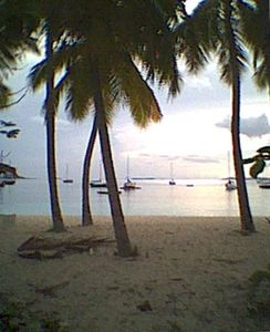 Sunset at Honeymoon Beach