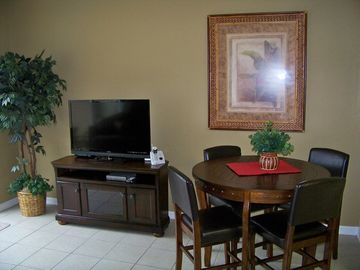 Dining area and new 42 inch Vizeo LED HDTV