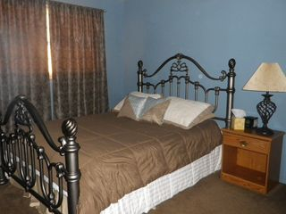 Lubbock house photo - Blue Bedroom with queen bed...
