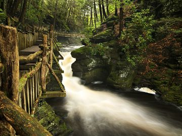 Bushkill Falls Hiking Trail