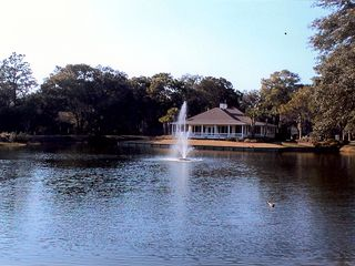 St. Simons Island condo photo - Beautiful view of the lake and Club House