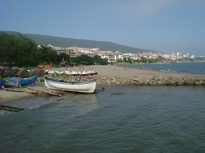 St Vlas and mountains