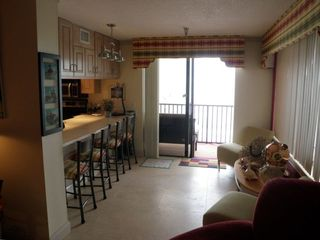 Bar area off of kitchen looking out to the Gulf