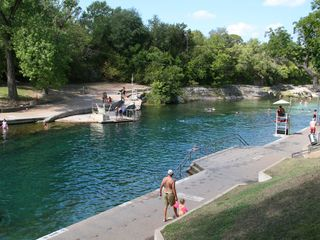 Austin condo photo - Barton Springs Pool, only 1 block away!