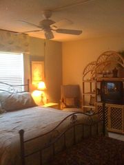 Cocoa Beach condo photo - Cocoa Beach Condo Rental - Large Master Bedroom TV, Bath - Relax!