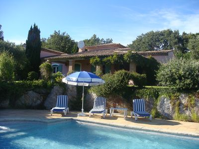 La Garde Freinet villa rental - The villa from the pool