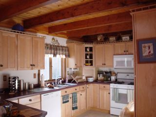 Lee cabin photo - Modern kitchen with gas range/micro/dishwasher and lots of amenities.