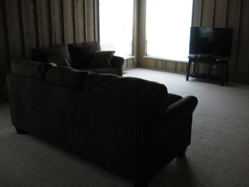 Family room with DVD and Wii gaming system.