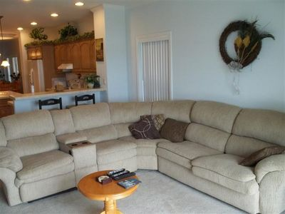 Living Room with Sectional and Pull Out Bed