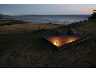 Sea Ranch house photo - Evening/sunset view from upon the sod roof.