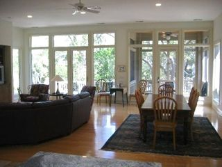 Great room, outside deck,screened porch, dining table can seat 12