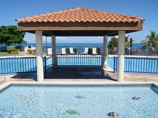 Cabo Rojo apartment photo - Kids pool next to adults one.