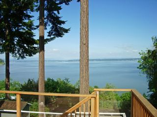 Camano Island house photo - Relaxing from the Deck