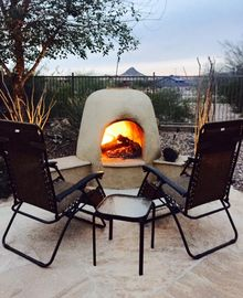 Florence house rental - Cozy up to a relaxing fire while enjoying the mountain views and sunsets.