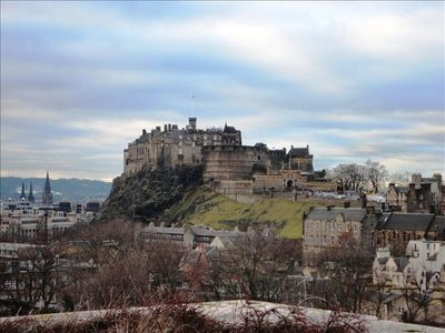 Edinburgh Castle from roof of Scotland Museum - free entry!