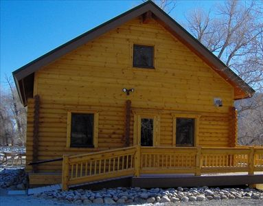 A New Log Cabin Construction on a Working Angus Cattle Ranch.
