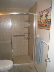 Ormond Beach condo photo - Standing shower with grab-bar.