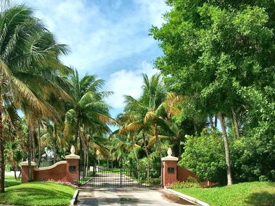 The gate to the exclusive Sanctuary community in the Key West Golf Club