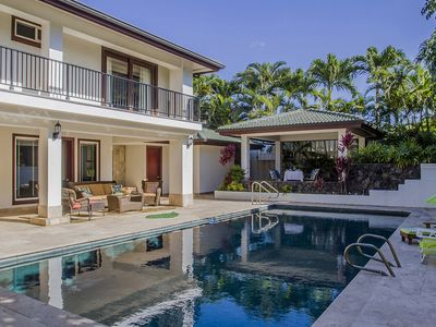 delightful hawaiian home with private pool perfect for reunions walk to beach