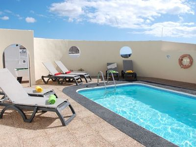 Nazaret villa rental - Private Pool Area with Lockable Gate