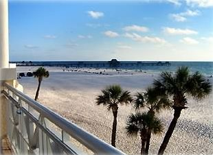 SW View of Clearwater Beach and Pier 60 from the Elevated (2nd floor) Pool Deck