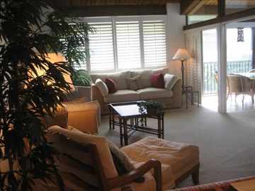 Relax in the Great Room Overlooking Lanai - Beautiful Courtyard!