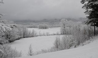 North Conway house photo - Across the valley floor on a wintery day. Nice day to snuggle at Eagles View