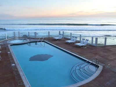 View from North pool and spa at sunset