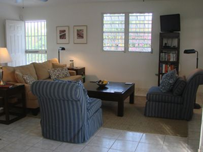 Vieques Island house rental - Living Room