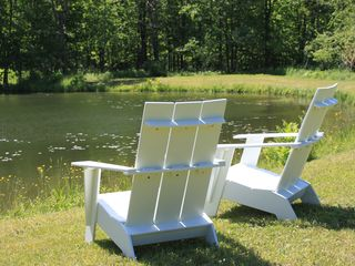 Middlefield house photo - Adirondack Chairs by the Pond