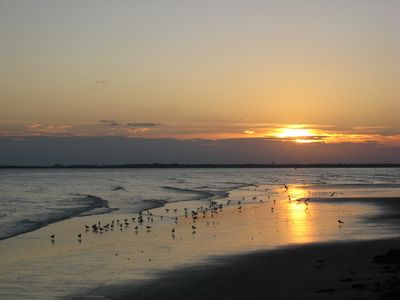 St. Simons Island house rental - Nightly Sunsets from Our Beach