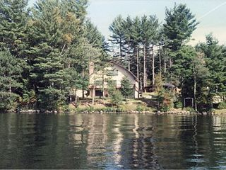 Brant Lake house photo - View of Main House from the Lake