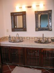 Puerto Vallarta condo photo - Beautiful Master Bath with Rainfall & Euro Shower