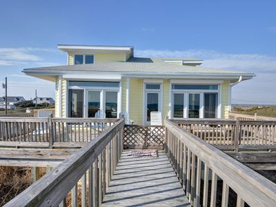 North Topsail Beach house rental - Ocean front side
