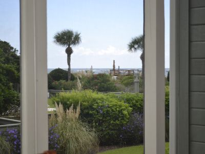 Isle of Palms villa rental - Beautiful Ocean View from Screened Porch