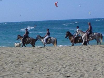 Horseback riding in front of our Villa!